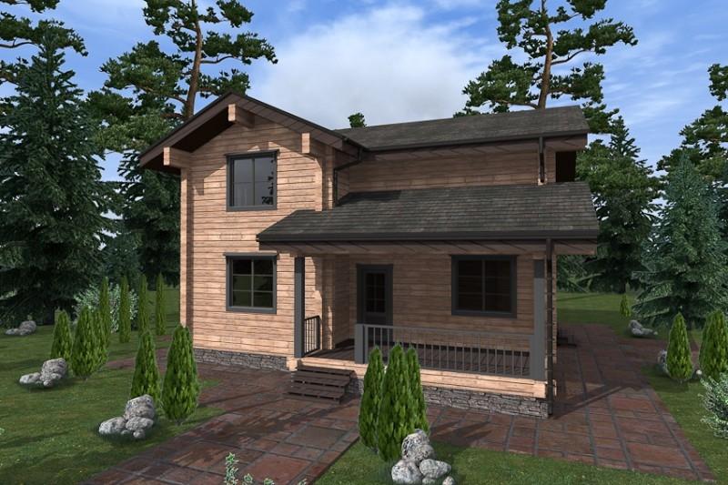 """Проект дома """"Гарумна"""", профилированный брус, 242 кв.м."""