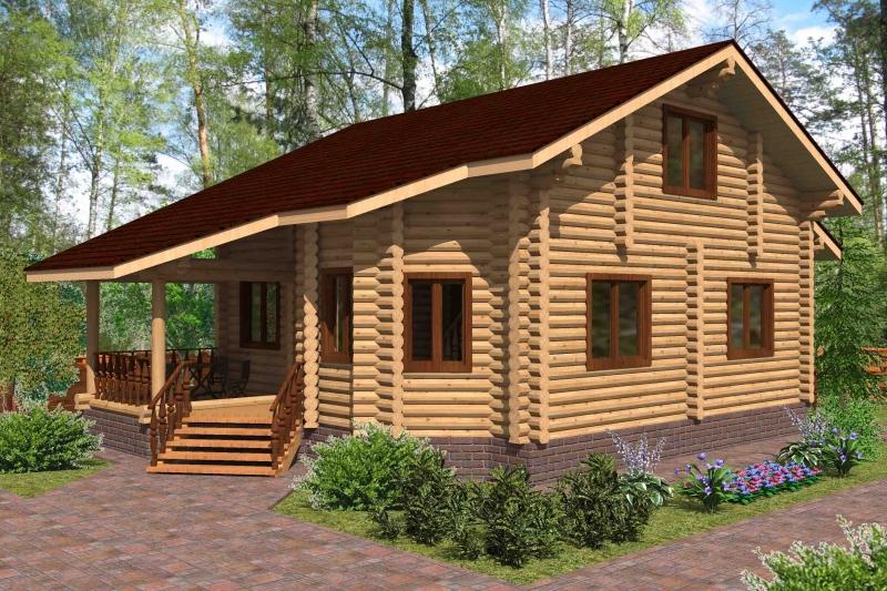 """Проект дома """"Проект ОБД-149"""", оцилиндрованное бревно, 108 кв.м."""