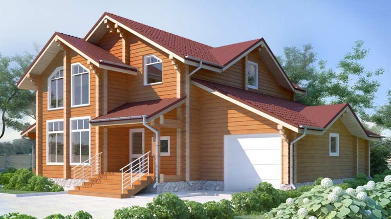 "Проект дома ""509-8"", брус камерной сушки, 210 кв.м."