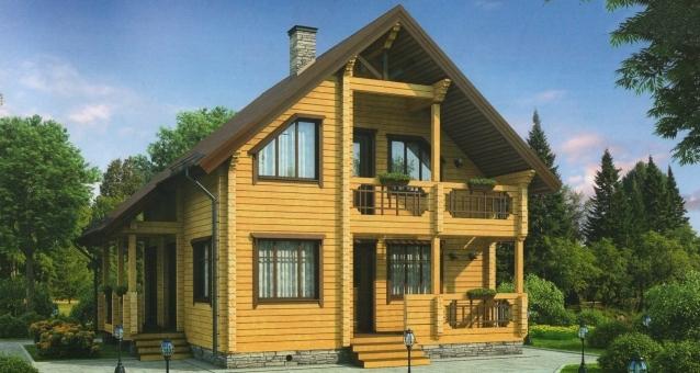 """Проект дома """"Сурия"""", профилированный брус, 106.6 кв.м."""