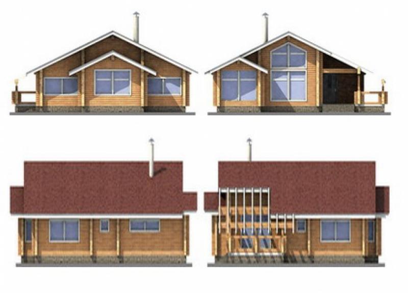 """Проект дома """"Интеграл"""", профилированный брус, 124 кв.м."""