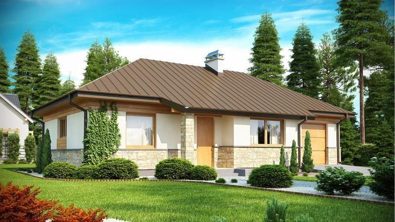 """Проект дома """"Галантус"""", профилированный брус, 87.4 кв.м."""