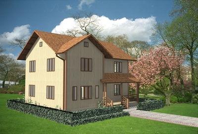 """Проект дома """"Фрезия"""", профилированный брус, 180 кв.м."""