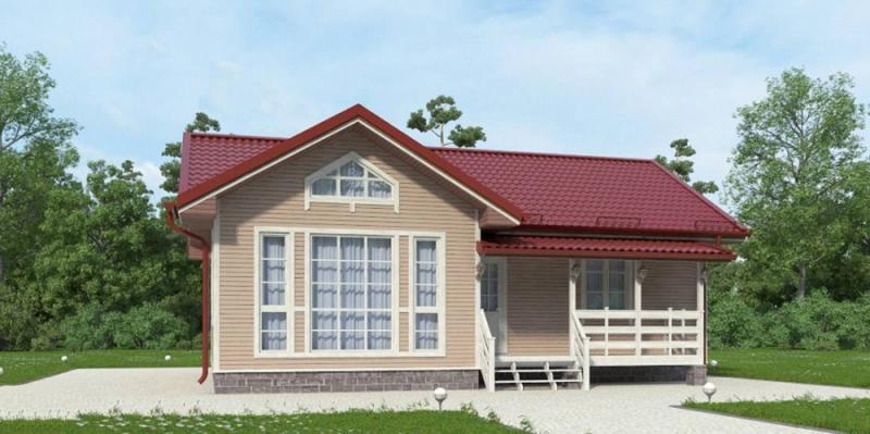"""Проект дома """"Кардифф"""", профилированный брус, 99 кв.м."""