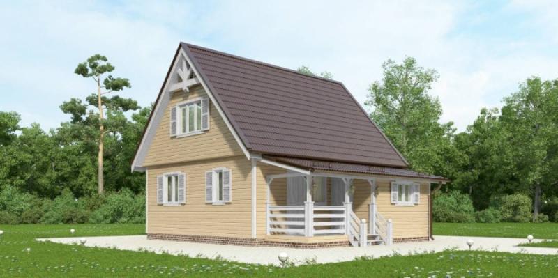 """Проект дома """"Урхиксидур"""", профилированный брус, 81.93 кв.м."""