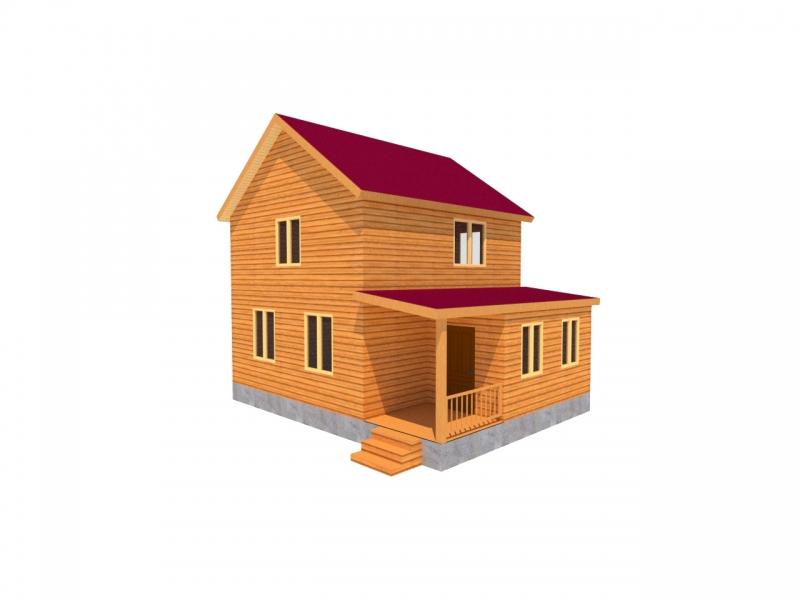"""Проект дома """"БД-65"""", профилированный брус, 96 кв.м."""