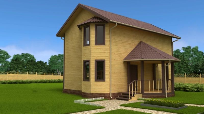 """Проект дома """"Венгрия"""", профилированный брус, 108 кв.м."""