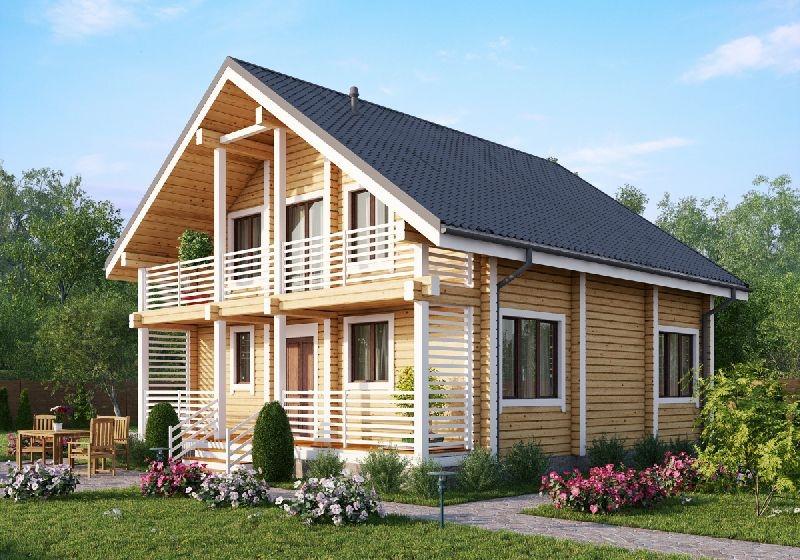 """Проект дома """"Эли"""", профилированный брус, 90 кв.м."""