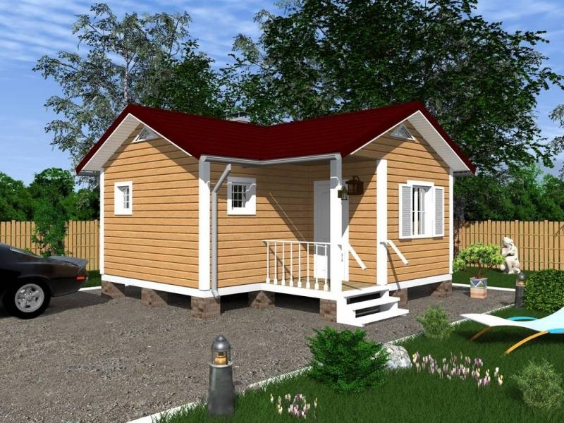 """Проект дома """"Венузия"""", профилированный брус, 26.69 кв.м."""
