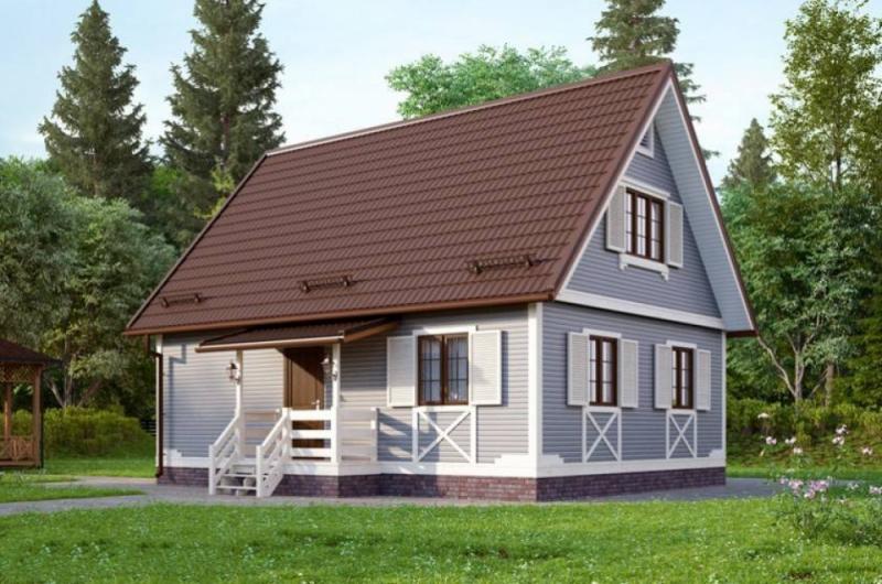 """Проект дома """"Терцидина"""", профилированный брус, 93.84 кв.м."""