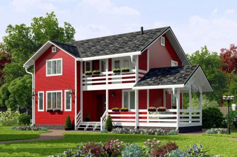 """Проект дома """"Росс"""", профилированный брус, 160 кв.м."""