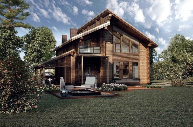 """Проект дома """"Барри"""", профилированный брус, 158.47 кв.м."""