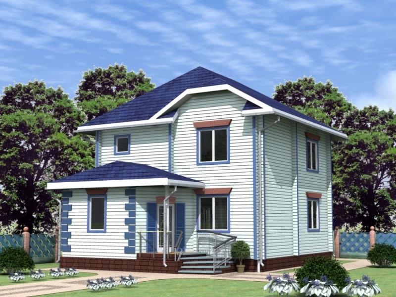 """Проект дома """"Родник"""", профилированный брус, 176 кв.м."""