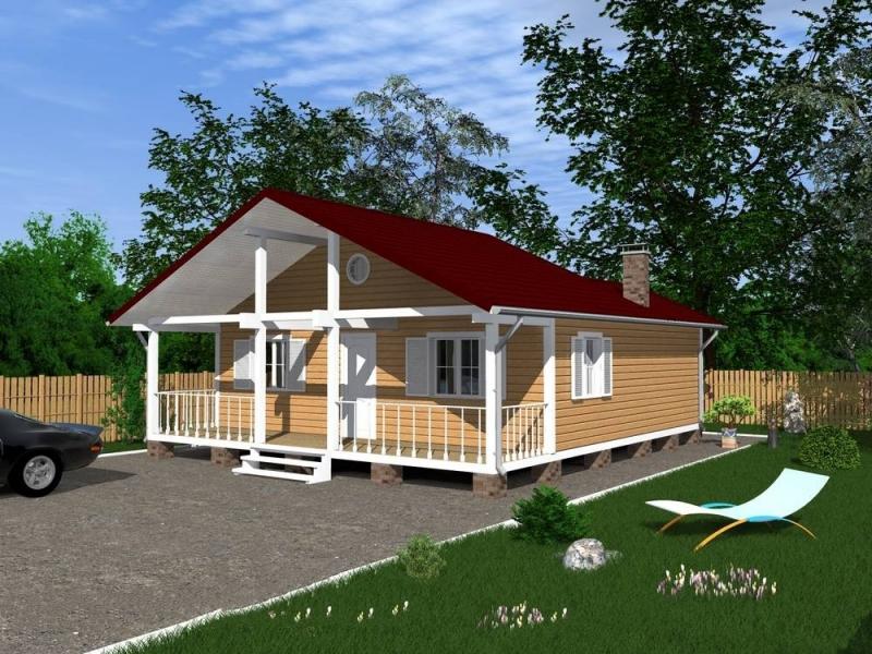 """Проект дома """"Пандора"""", профилированный брус, 90 кв.м."""