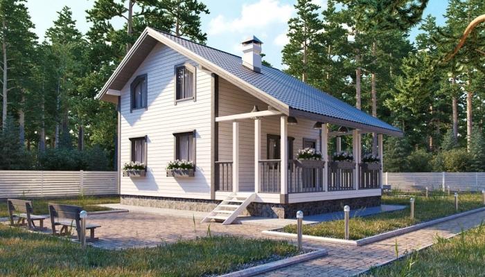 """Проект дома """"Канда"""", профилированный брус, 63 кв.м."""