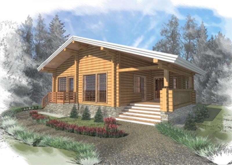 """Проект дома """"Айдамина"""", профилированный брус, 97.9 кв.м."""