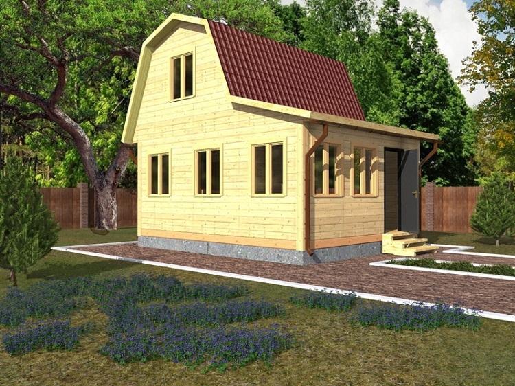 """Проект дома """"Мельпомена"""", профилированный брус, 30.45 кв.м."""