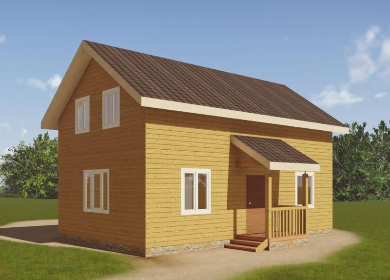 """Проект дома """"Ферония"""", профилированный брус, 96.92 кв.м."""