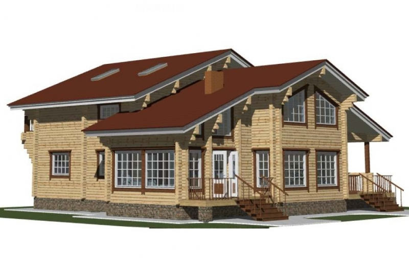 """Проект дома """"Альянс"""", профилированный брус, 225 кв.м."""