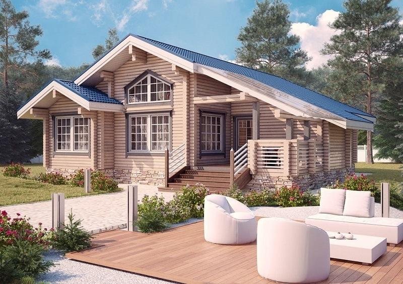 """Проект дома """"Вероника"""", профилированный брус, 144 кв.м."""