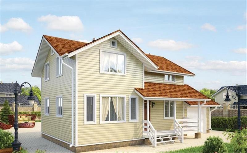 """Проект дома """"Хайдельберга"""", профилированный брус, 126 кв.м."""