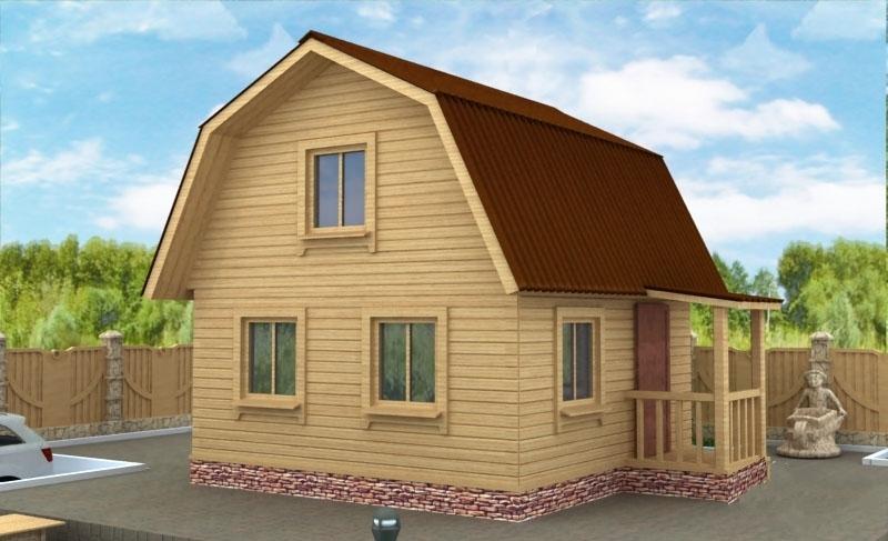 """Проект дома """"Сомали"""", профилированный брус, 37.92 кв.м."""