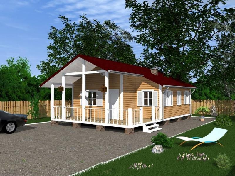 """Проект дома """"Крэйг"""", профилированный брус, 88 кв.м."""