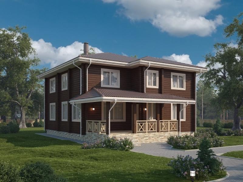 """Проект дома """"Сигуна"""", профилированный брус, 280 кв.м."""
