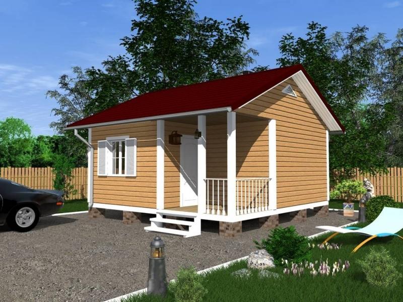 """Проект дома """"Люсидор"""", профилированный брус, 27.76 кв.м."""