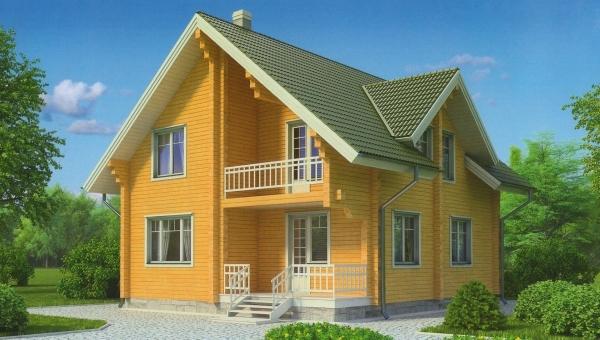 """Проект дома """"Ньюкомбия"""", профилированный брус, 99 кв.м."""