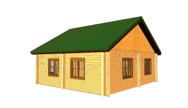 """Проект дома """"Тромра"""", профилированный брус, 72 кв.м."""