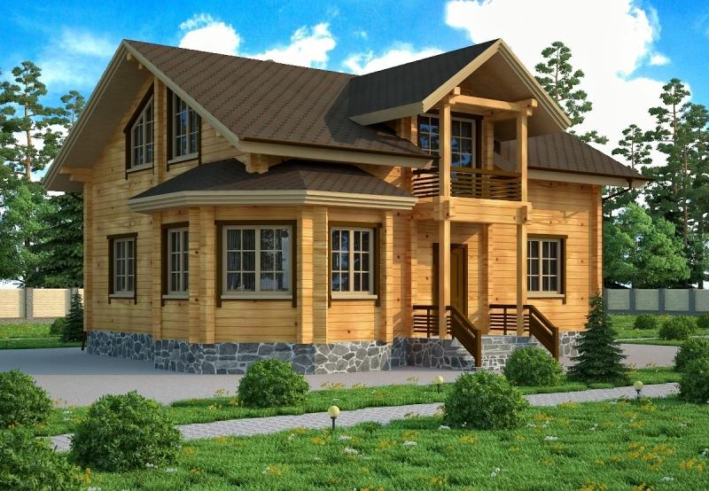 """Проект дома """"Гиом"""", профилированный брус, 156.4 кв.м."""