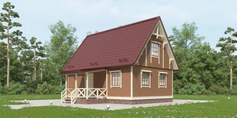 """Проект дома """"Резерфордия"""", профилированный брус, 81 кв.м."""