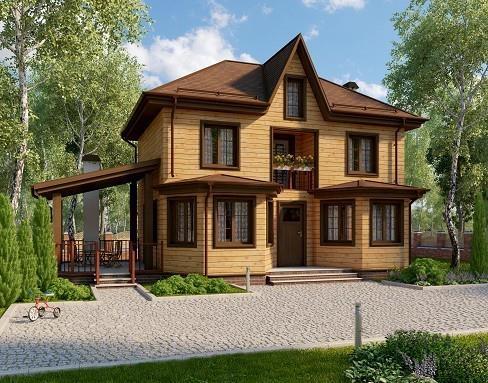 """Проект дома """"Каяани"""", профилированный брус, 192 кв.м."""