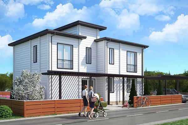 """Проект дома """"Пяйянне"""", профилированный брус, 338 кв.м."""