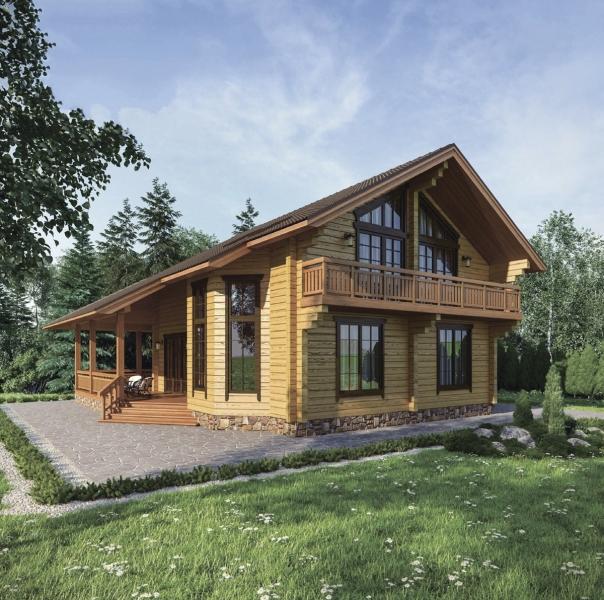 """Проект дома """"Эри"""", профилированный брус, 165.3 кв.м."""