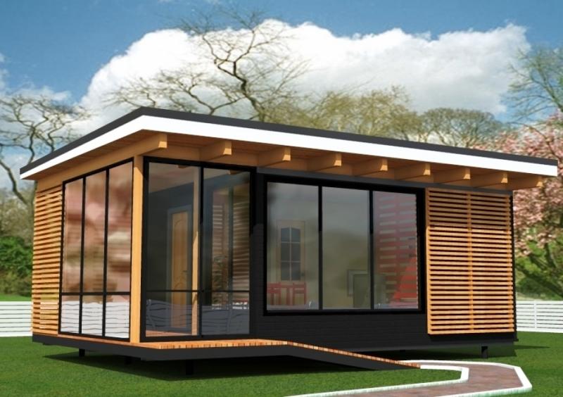 """Проект дома """"Гелио"""", профилированный брус, 40 кв.м."""