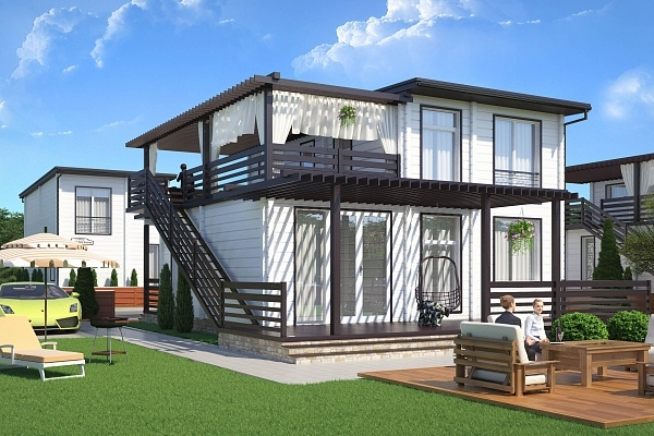 """Проект дома """"БД-250"""", профилированный брус, 260 кв.м."""