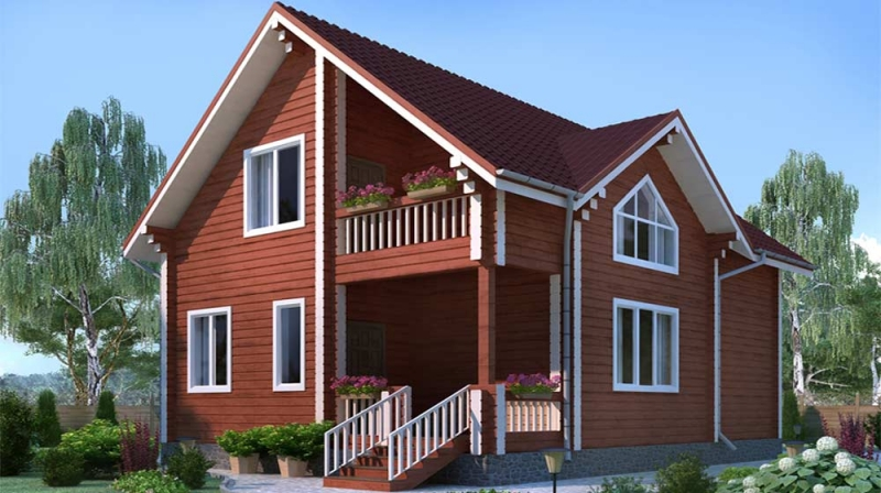 "Проект дома ""503-8"", брус камерной сушки, 150 кв.м."