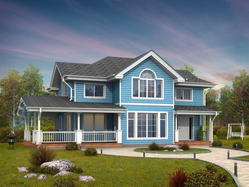 """Проект дома """"Марилин"""", профилированный брус, 300 кв.м."""