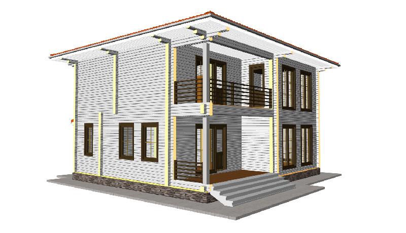 """Проект дома """"Караччи"""", профилированный брус, 240 кв.м."""