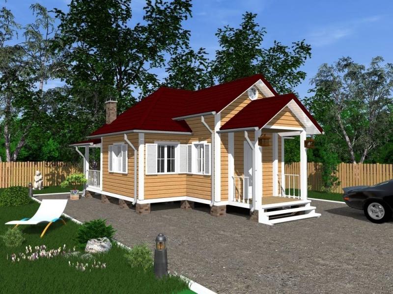 """Проект дома """"Цетил"""", профилированный брус, 80 кв.м."""