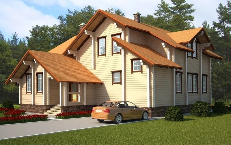 """Проект дома """"Викинг"""", профилированный брус, 130 кв.м."""