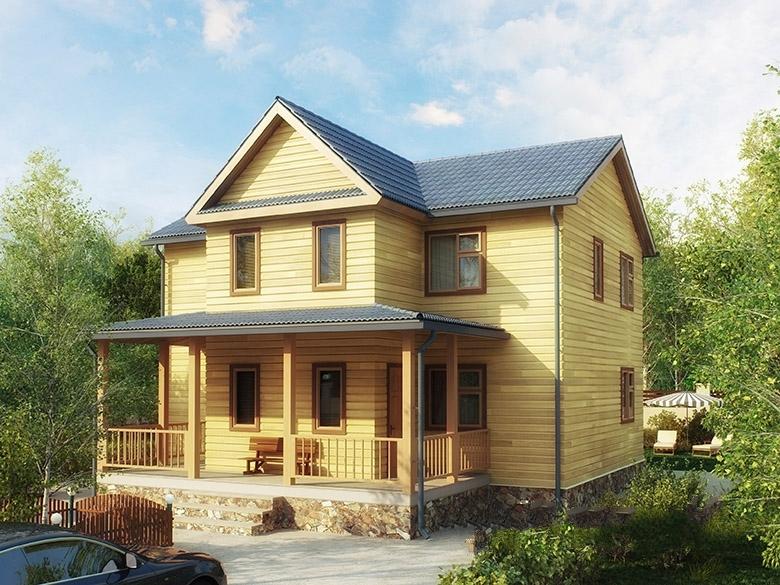 """Проект дома """"Уэллс"""", профилированный брус, 220 кв.м."""