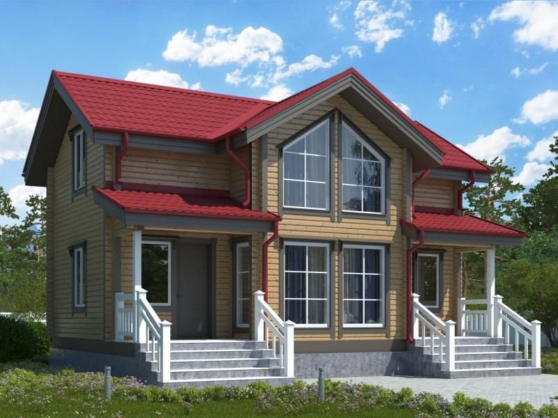 """Проект дома """"Хельга"""", профилированный брус, 140 кв.м."""