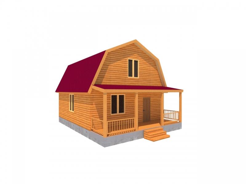 """Проект дома """"Валленбергия"""", профилированный брус, 56.8 кв.м."""