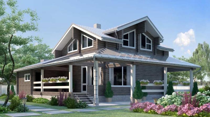 "Проект дома ""505-8"", брус камерной сушки, 185 кв.м."