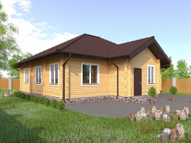 """Проект дома """"Арктика"""", профилированный брус, 116.58 кв.м."""