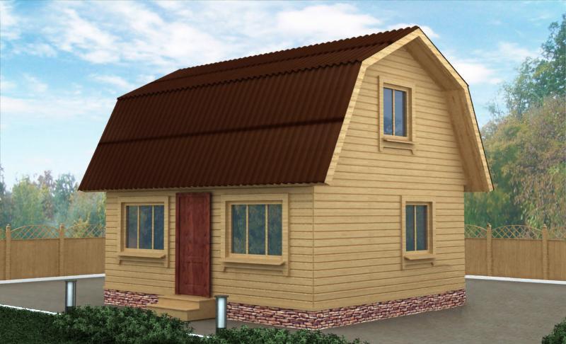 """Проект дома """"Лидфорд"""", профилированный брус, 33.1 кв.м."""