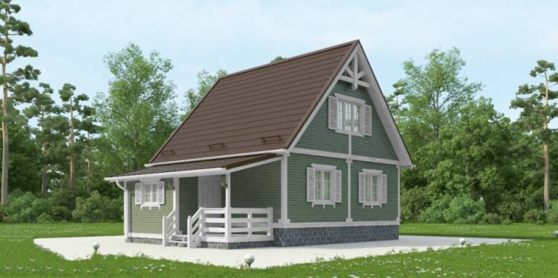 """Проект дома """"Циммервальд"""", профилированный брус, 70.55 кв.м."""